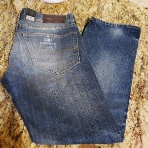 G Star Raw Jean's 3301 Deconstructed Straight Slim